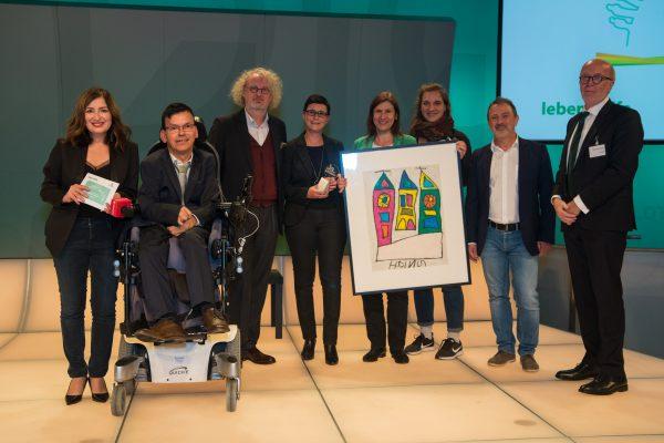 Preisträger Wien LEBE BUNT - inklusive Wohngemeinschaft Fonds Soziales Wien Übergabe: Germain Weber