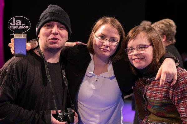 Inklusionspreis 2016_Stolze GewinnerInnen