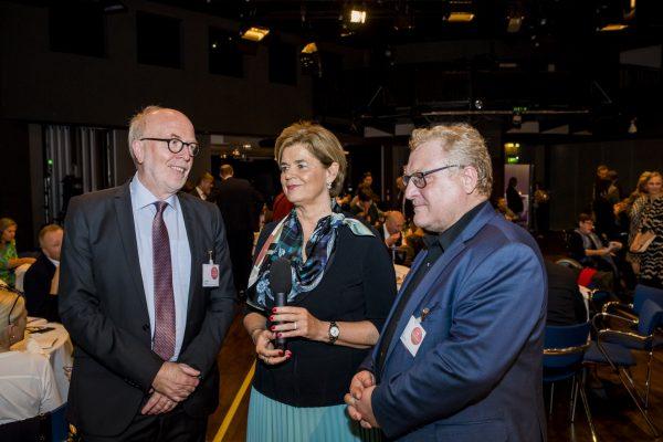 v.l.n.r. Univ.Prof. Dr. Germain Weber; Mag. Bettina Glatz-Kremsner und Mag. Albert Brandstätter